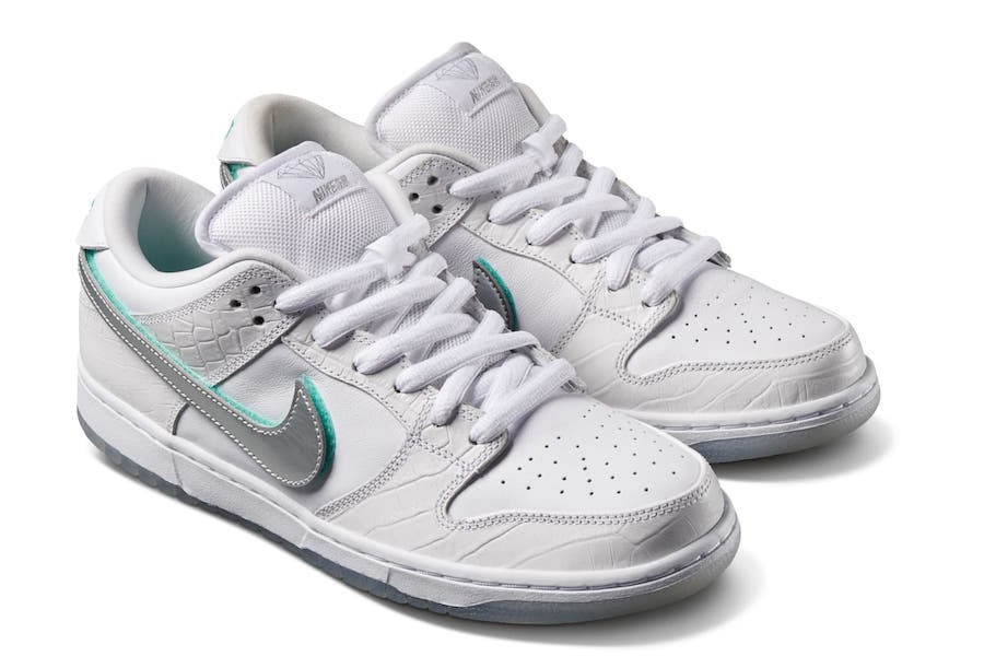 Diamond Supply Co Nike SB Dunk Low White Release Date