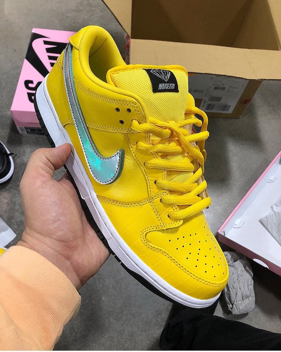 Diamond Supply Co Nike SB Dunk Low Yellow