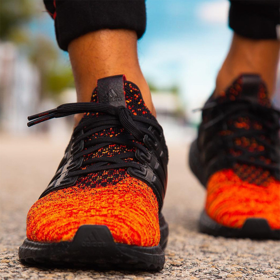 Game of Thrones adidas Ultra Boost House Targaryen Dragons On Feet