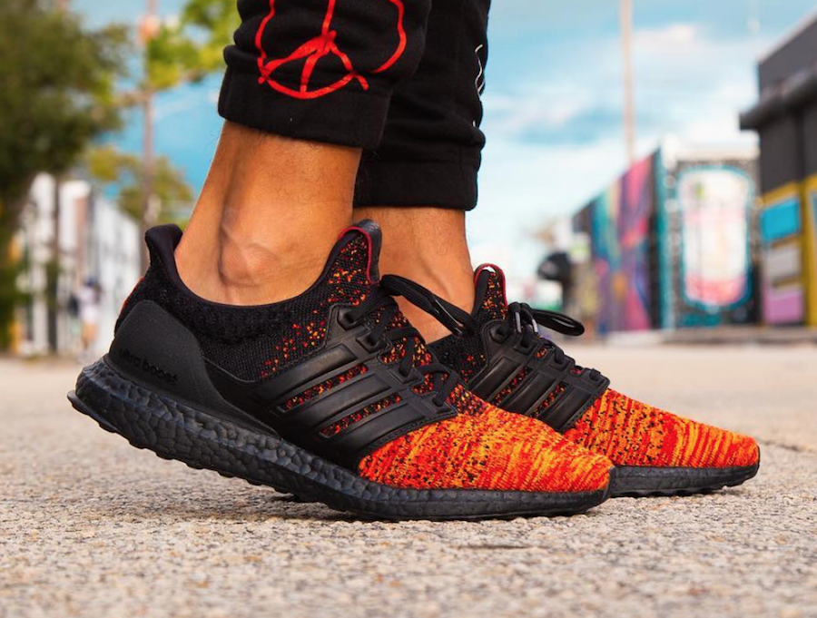 designer fashion 66a31 dc8ed Game of Thrones adidas Ultra Boost House Targaryen Dragons On Feet