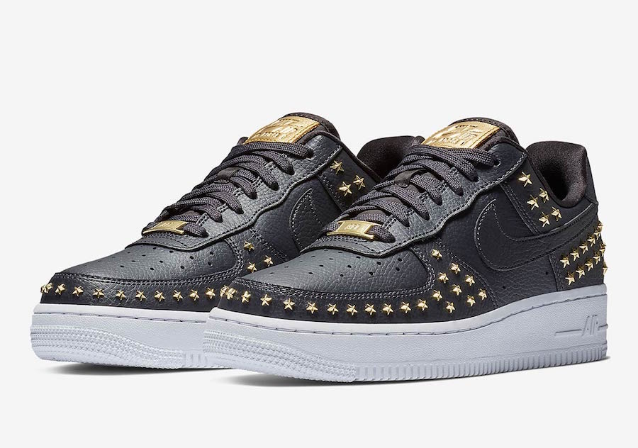Nike Air Force 1 Low Stars Black Gold AR0639-001 Release Date