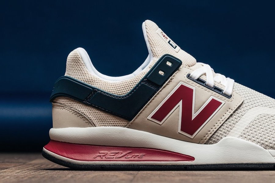 New Balance 247 Mesh Grey Morn Team Red