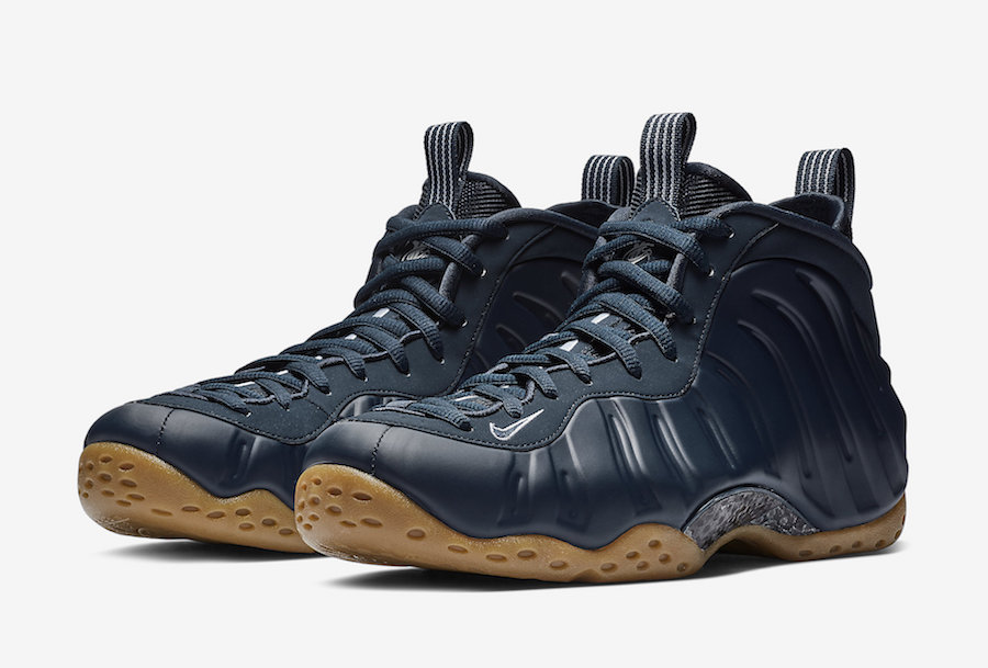 45024e3db7f Nike Air Foamposite One Midnight Navy Gum 314996-405 Release Date ...