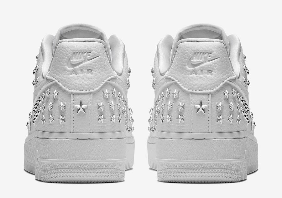 Nike Air Force 1 Low Stars White Silver AR0639-100 Release Date