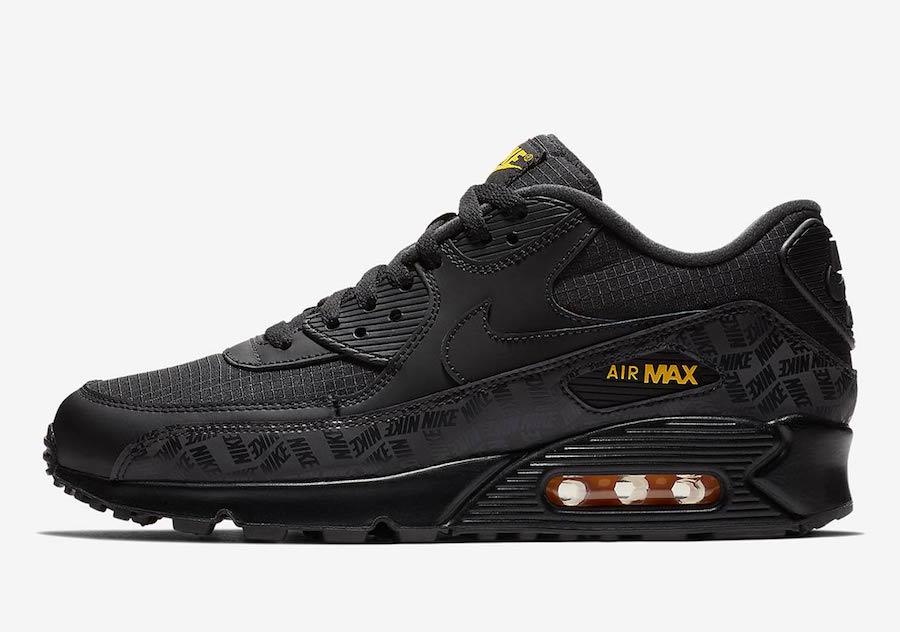 Nike Air Max 90 Black Yellow BQ4685-001