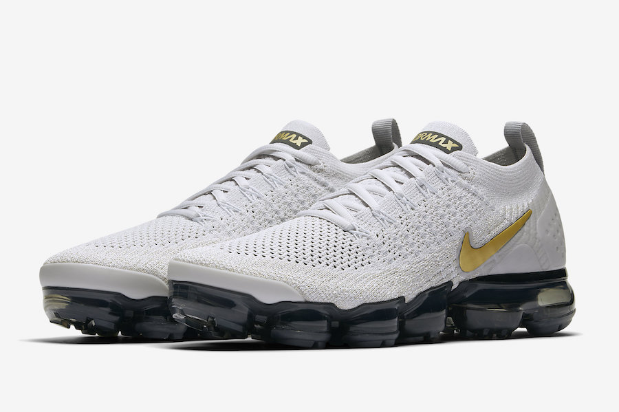 09495817d5d73 Nike Air VaporMax 2.0 Vast Grey Metallic Gold Nike Air VaporMax 2.0 Vast  Grey Metallic Gold