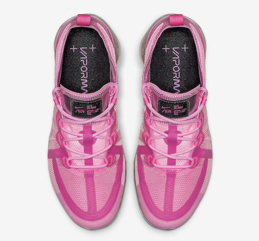 Nike Air VaporMax 2019 Active Fuchsia Laser Fuchsia Psychic Pink Metallic Silver Black AR6632-600