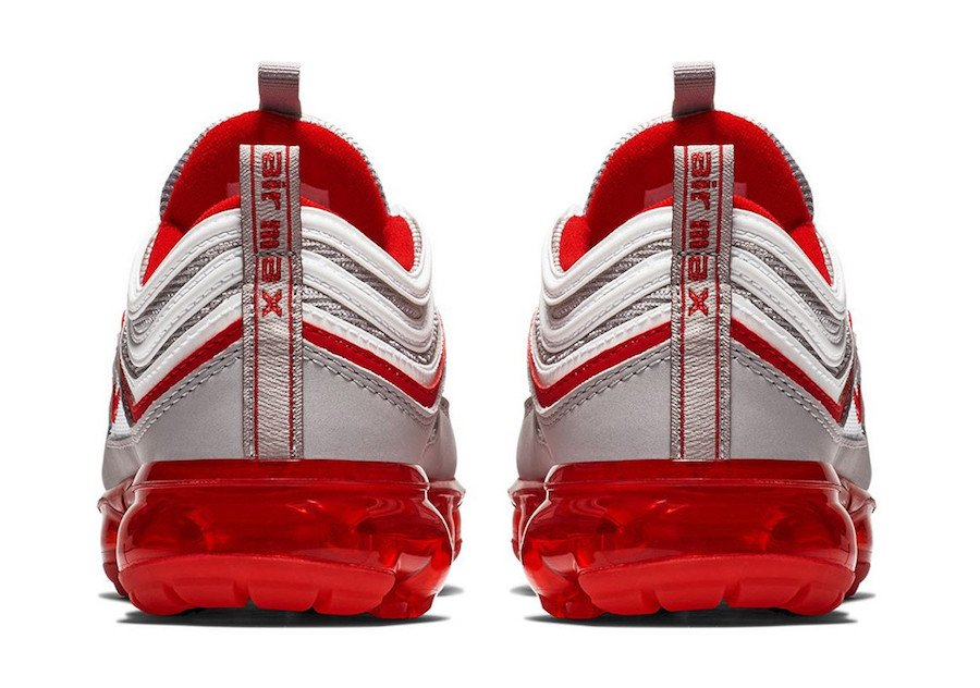 Nike Air VaporMax 97 Atmosphere Grey University Red