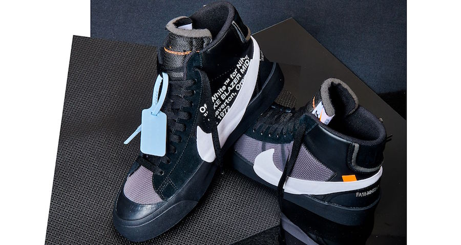 Off-White Nike Blazer Mid Grim Reapers Black Pure Platinum Wolf Grey