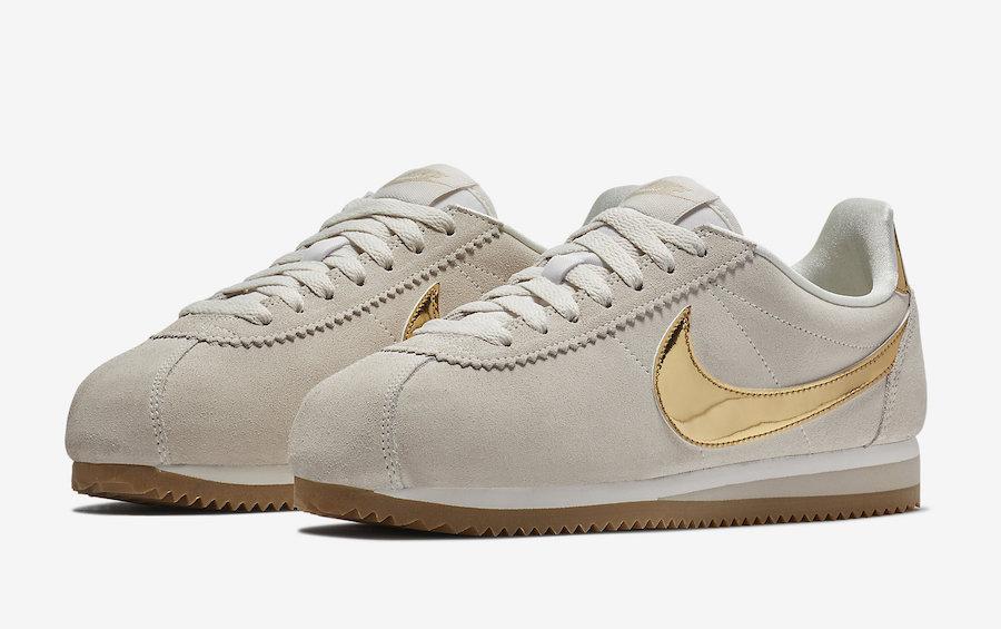 Nike Cortez Beige Metallic Gold 902856-013 Release Date