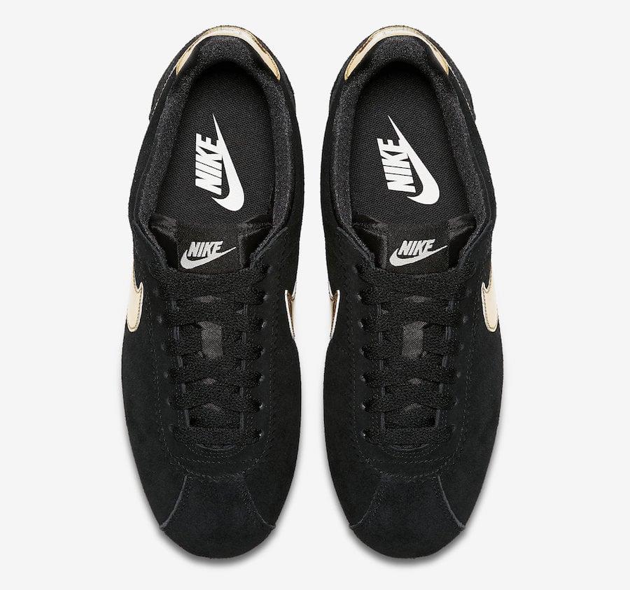 Nike Cortez Black Metallic Gold 902856-014 Release Date