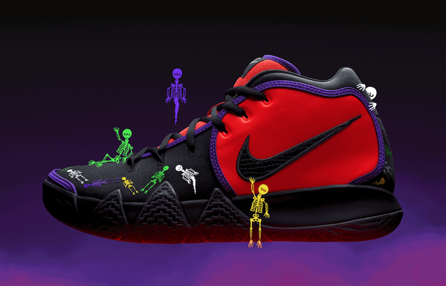 712fbc114303 Nike Kyrie 4 DOTD Day of the Dead CI0278-800 Release Date