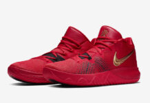 Nike Kyrie Flytrap University Red Metallic Gold AA7071-600