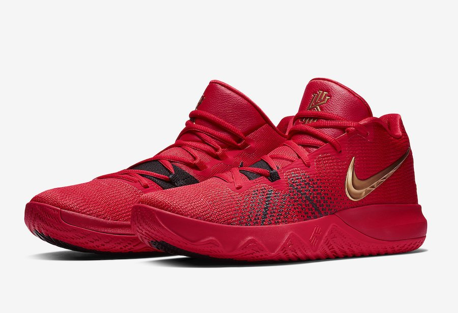8884129a8c04 Nike Kyrie Flytrap University Red Metallic Gold AA7071-600 ...
