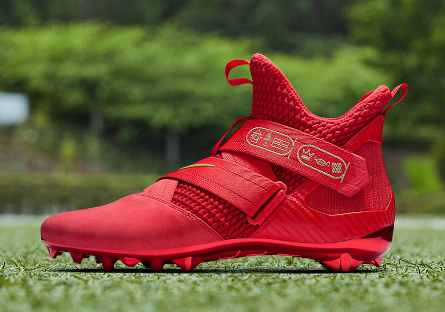 Nike LeBron Soldier 12 Cleat OBJ Red PE
