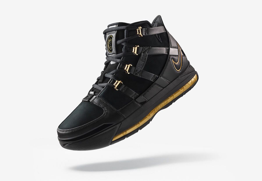 Nike Zoom LeBron 3 Black Metallic Gold AO2434-001