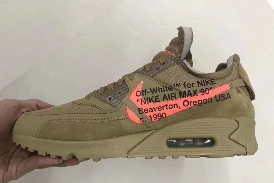 First Look: Off-White x Nike Air Max 90 'Desert Ore'