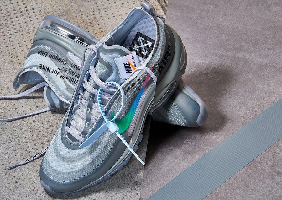 2018 Off White x Nike Air Max 97 Wolf Grey White Menta AJ4585 101