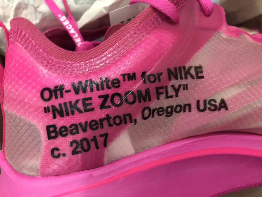 Off-White Nike Zoom Fly Pink AJ4588-600