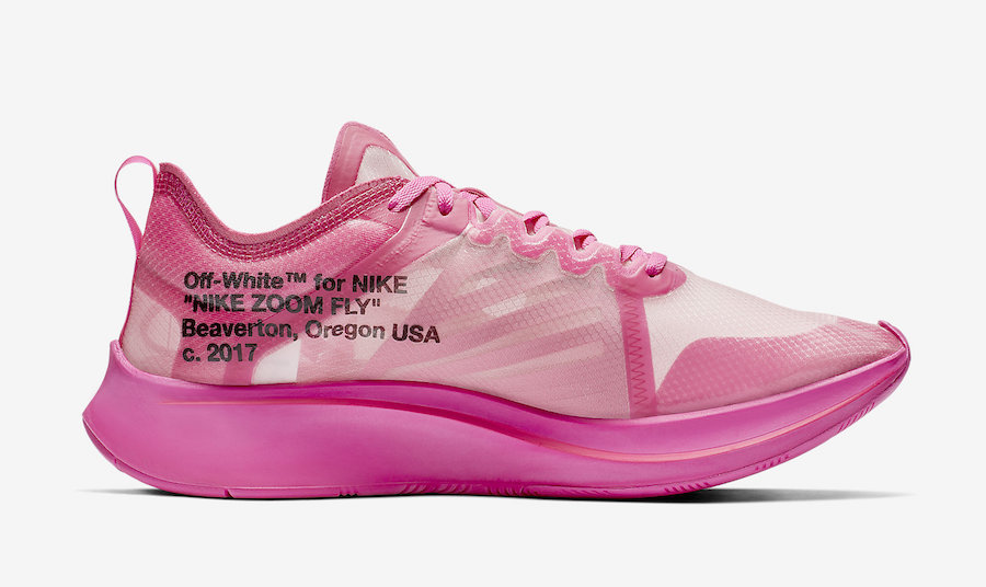 Off-White Nike Zoom Fly Tulip Pink AJ4588-600 Release Date Info