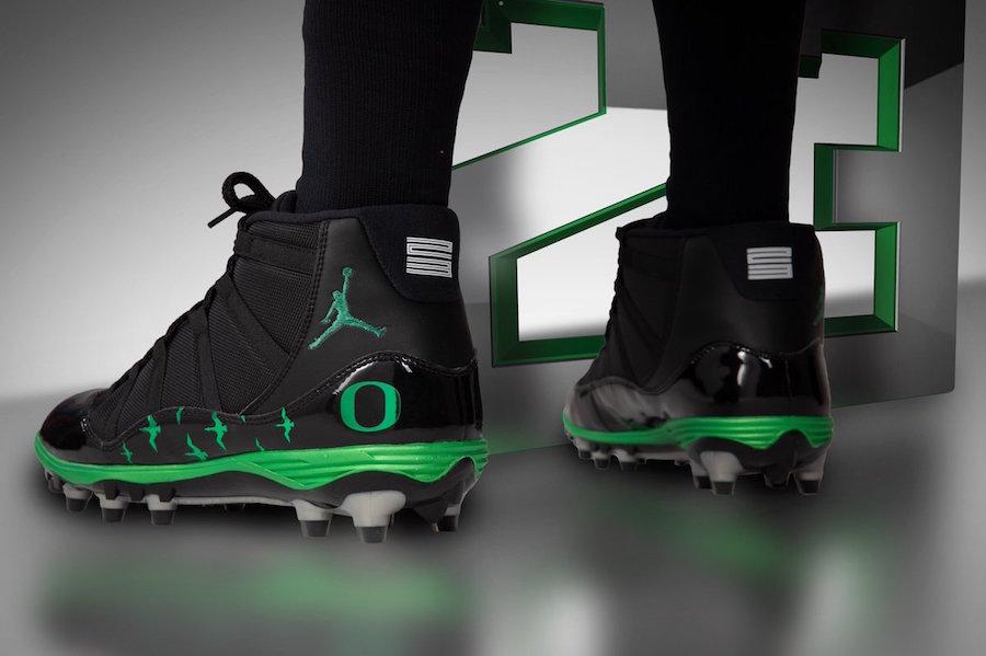 Oregon Ducks Air Jordan 11 Cleats Uniforms