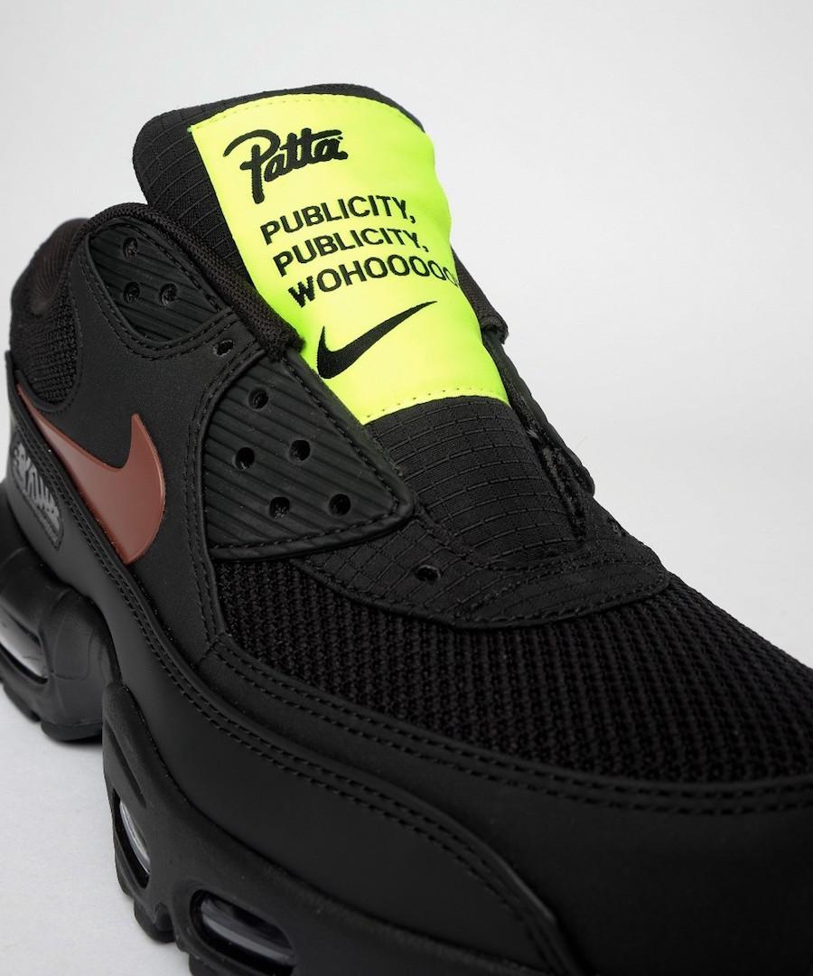 ad6bd7bdf99df Patta Nike Air Max 90 95 Black Mars Stone Black CJ4741-001 Release Date