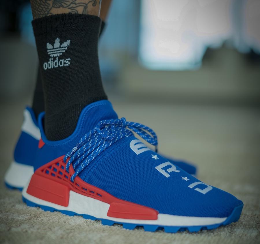 Pharrell adidas NMD Hu NERD ComplexCon Blue EF2682