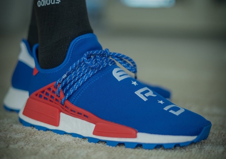 new arrival 73ebd fc82e Pharrell adidas NMD Hu NERD ComplexCon Blue EF2682 Release ...