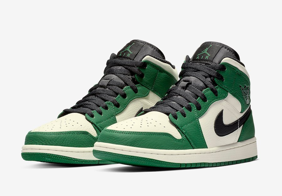 Air Jordan 1 Mid Pine Green 852542-301
