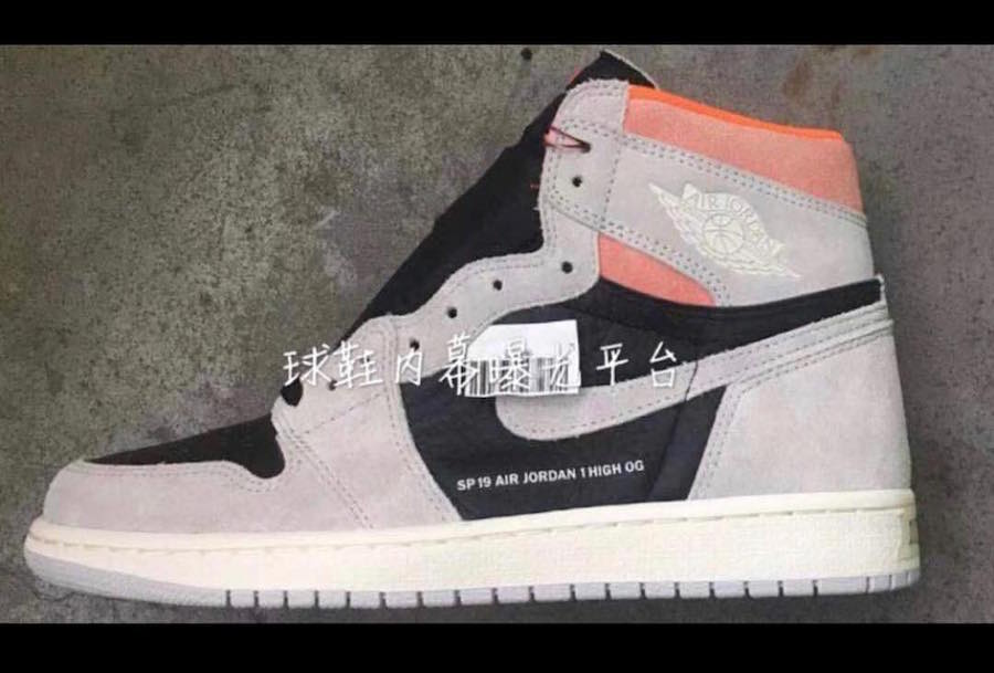 2a55c332d62 Air Jordan 1 Neutral Grey Hyper Crimson 555088-018 Release Date ...