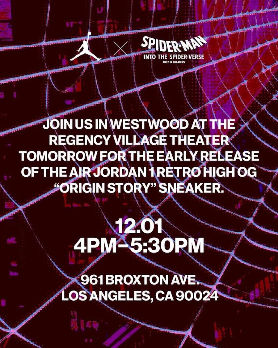 Air Jordan 1 Origin Story Spider-Verse 555088-602