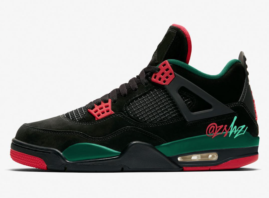 Air Jordan 4 Do the Right Thing Black Gorge Green Varsity Red AQ3816-063