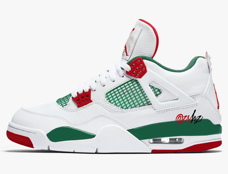 Air Jordan 4 Do the Right Thing White Gorge Green Varsity Red AQ3816-163
