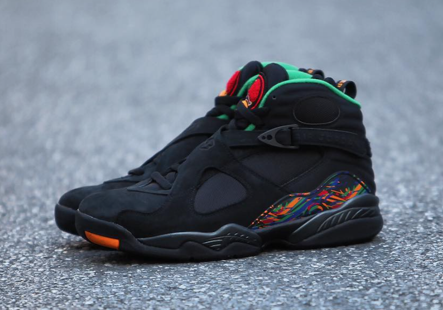 48a9c4acf6d Air Jordan 8 Air Raid Black Light Concord Aloe Verde University Red  305381-004