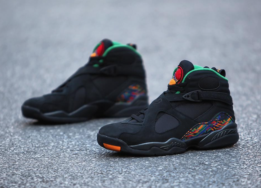 ec252b9c56c723 Air Jordan 8 Air Raid Black Light Concord Aloe Verde University Red 305381 -004