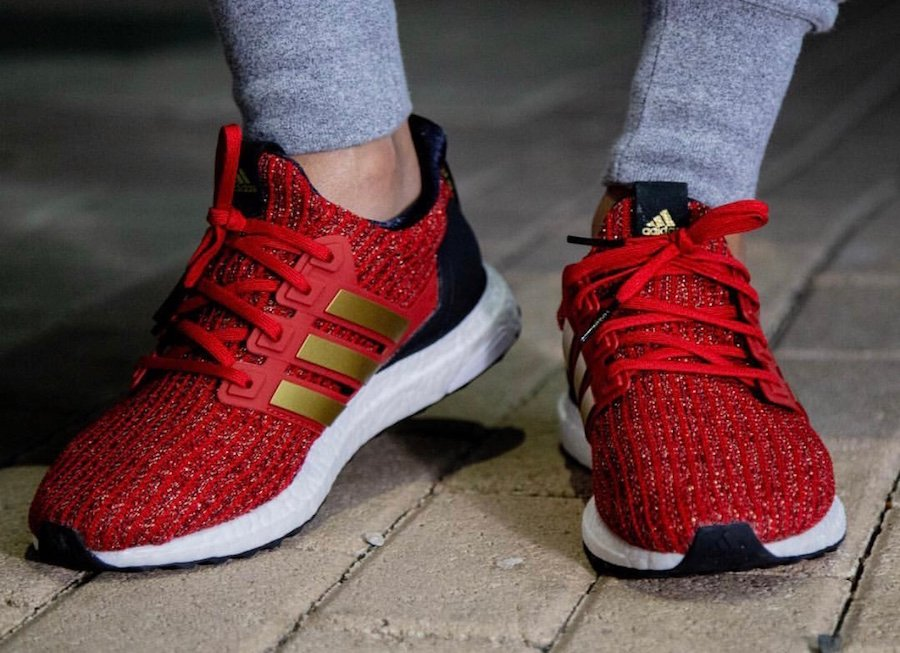 Game of Thrones adidas Ultra Boost Lannister On Feet