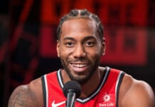 Kawhi Leonard New Balance Laugh