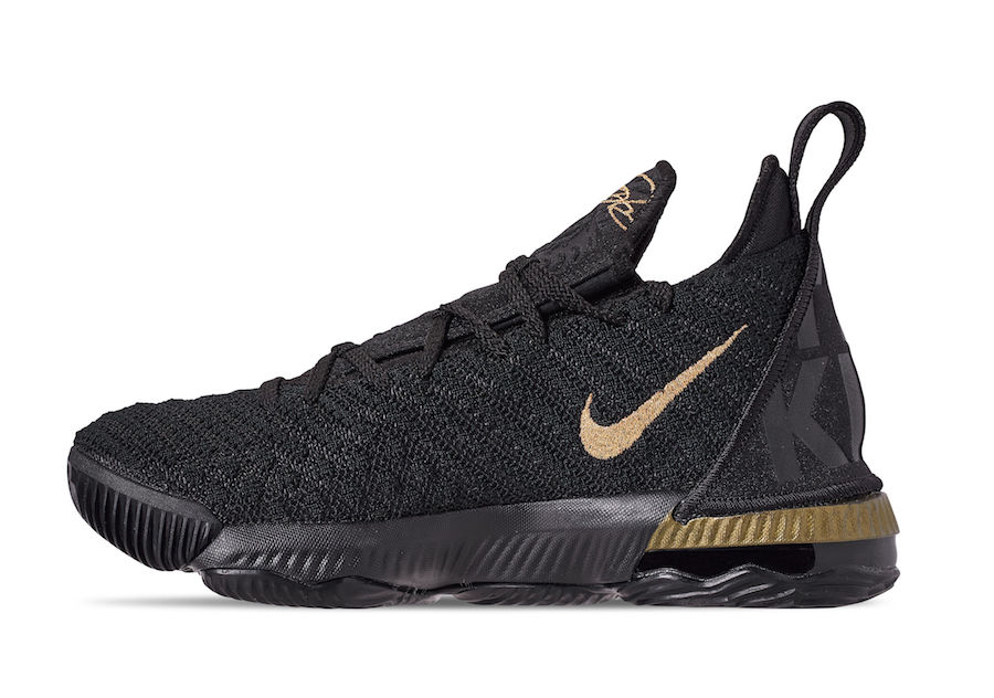 Nike LeBron 16 Im King Black Gold AQ2465-007