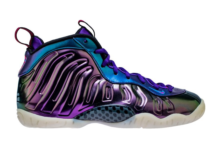 new styles 0a9e4 4e58a Nike Little Posite One Iridescent Rush Pink Neptune Blue Court Purple  644791-602