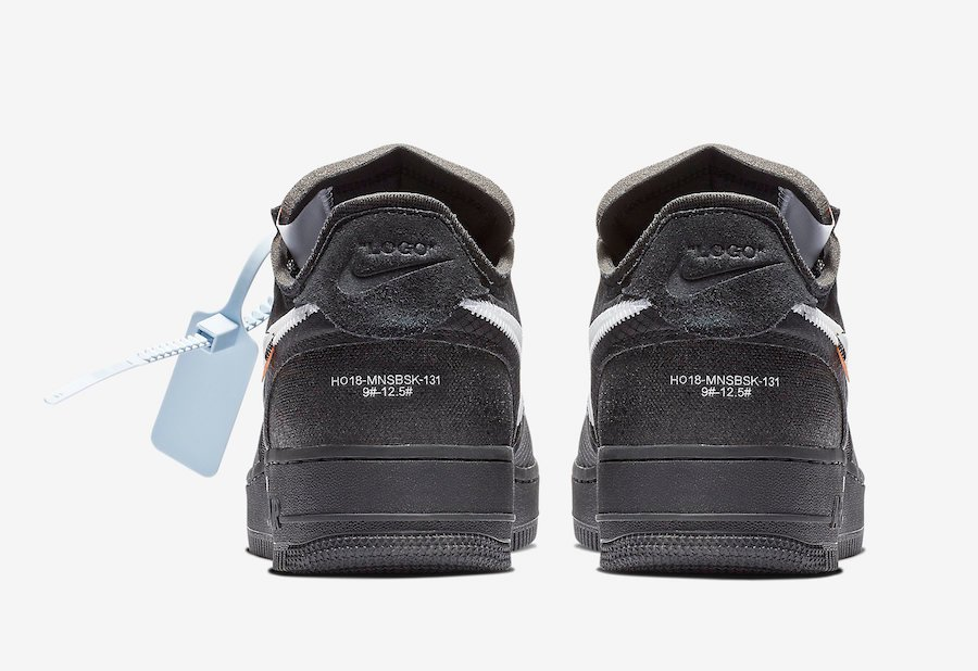 Off-White Nike Air Force 1 Black White Cone AO4606-001 Release Date