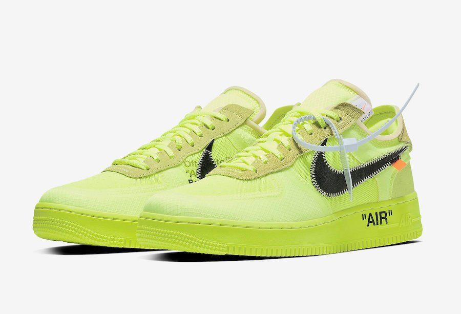 Off-White Nike Air Force 1 Volt AO4606-700 Release Date Price Info