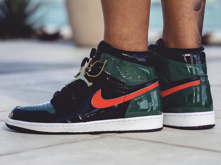 SoleFly Air Jordan 1 Patent Leather On Feet