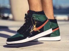 SoleFly Air Jordan 1 Patent Leather On Feet