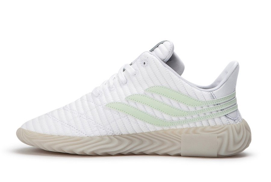 Melodramático Ambicioso Caducado  adidas Sobakov in White and Aero Green | Sneakers Cartel