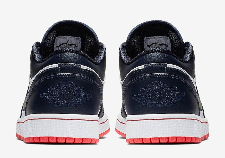 Air Jordan 1 Low Obsidian Ember Glow 553558-481 Release Date