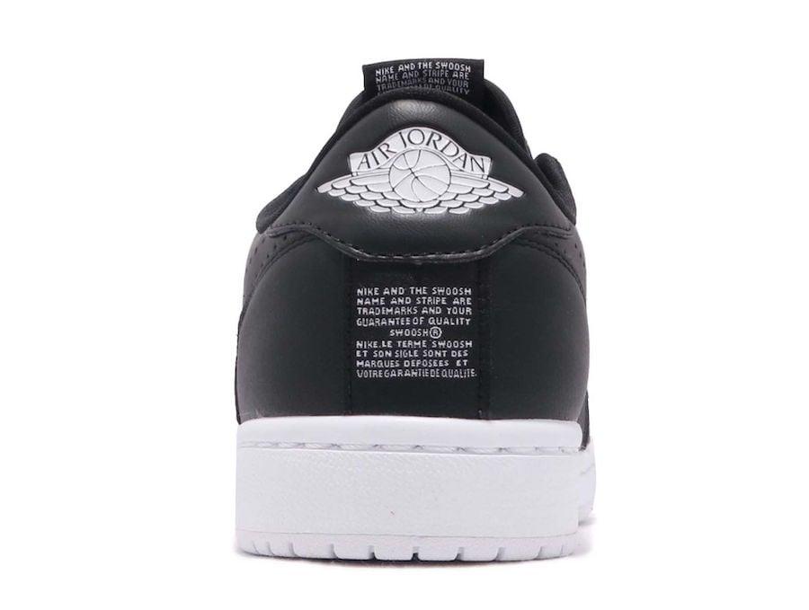 Air Jordan 1 Low Slip Black AV3918-001 White AV3918-100