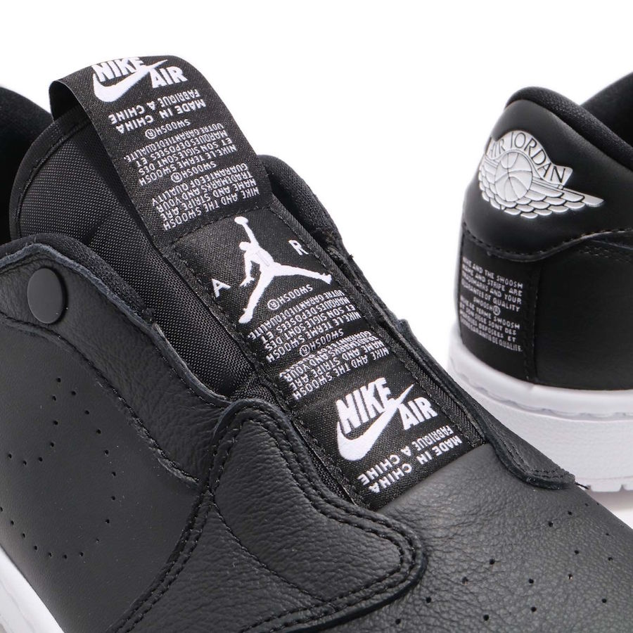 Air Jordan 1 Low Slip Black AV3918-001 White AV3918-100