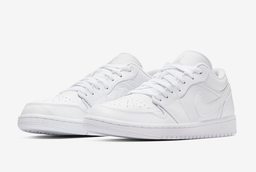 Air Jordan 1 Low Triple White 553558-111 Release Date