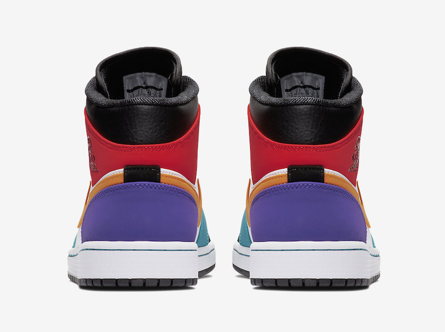5e69baf1429f Air Jordan 1 Mid Bred Multi-Color 554724-125 Release Date
