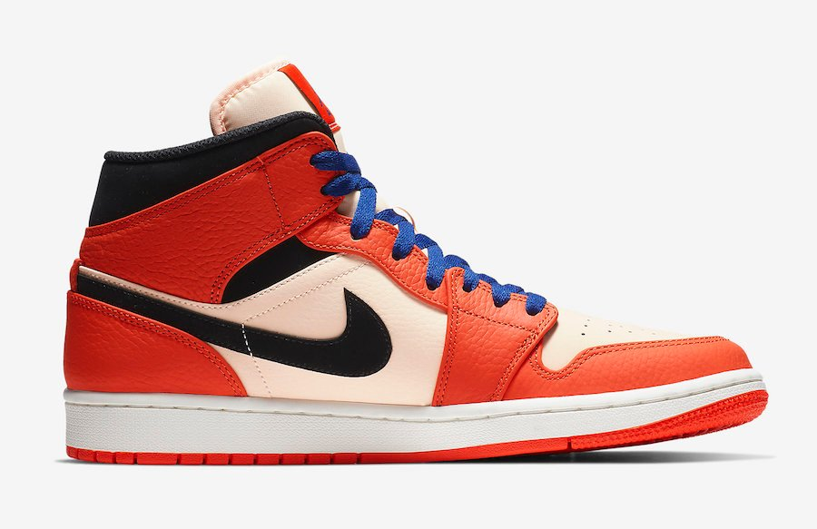 Air Jordan 1 Mid Team Orange 852542-800 Release Date